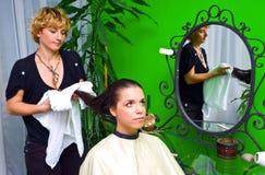 włosianego salonu kobieta obrazy royalty free