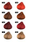 Włosiany barwidło, colours mapa, colour liczby 8 fotografia stock