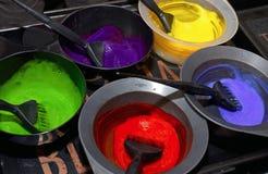 Włosiany barwidło w pucharach Włosiana kolorystyka obrazy stock