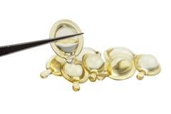 Włosiany serum traktowanie na białym tle Obraz Stock