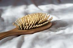 Włosiany spadek, Włosianej straty problem Drewniana brąz grępla z włosianą stratą o Zdjęcie Royalty Free
