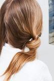 Włosiany tytułowania fryzjerstwa salon fotografia royalty free