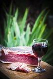 Włoska drobina i czerwone wino fotografia royalty free