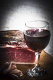 Włoska drobina i czerwone wino zdjęcie stock
