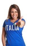 Włoska dziewczyna pokazuje kciuk up obraz stock