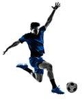Włoska gracza piłki nożnej mężczyzna sylwetka zdjęcie stock