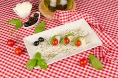 Włoska mozzarelli zakąska Zdjęcie Royalty Free