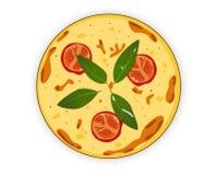 Włoska pizza na białym tle Obrazy Royalty Free