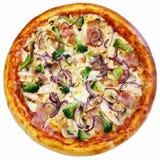 Włoska pizza odizolowywająca Fotografia Royalty Free