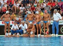 Włoska waterpolo drużyna w przerwie Zdjęcia Royalty Free