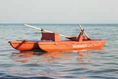 Włoski łódź ratuneku ratownik ratunek, Salvataggio, = Zdjęcia Royalty Free