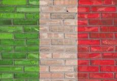Włoski ściana z cegieł zdjęcia royalty free