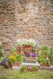 Włoski średniowieczny miasteczko Civita Di Bagnoregio, Włochy Fotografia Royalty Free