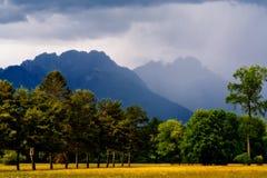 Włoski alps krajobraz przed stormf obrazy royalty free