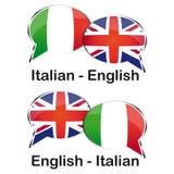 Włoski Angielski tłumacz Fotografia Royalty Free
