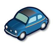 Włoski błękitny oldtimer samochód Zdjęcia Royalty Free