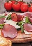 Włoski bresaola leczący mięso zdjęcie stock