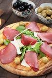 Włoski bresaola leczący mięso fotografia royalty free