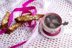 Włoski cantucci z migdałami i pistacjami zdjęcia royalty free