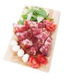 Włoski capicola, leczący wieprzowiny mięso obraz stock