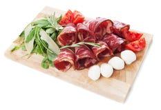 Włoski capicola, leczący wieprzowiny mięso zdjęcia stock
