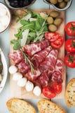 Włoski capicola, leczący wieprzowiny mięso zdjęcie royalty free