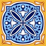 Włoski ceramicznej płytki wzór Etniczny ludowy ornament royalty ilustracja