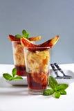 Włoski deser z wino marsalą, panettone obrazy royalty free