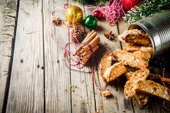 Włoski domowej roboty piec biscotti obrazy stock