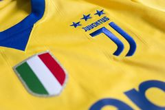 Włoski futbolu klubu FC Juventus Turyn bydło Obraz Royalty Free
