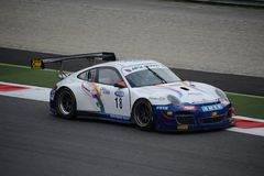 Włoski GT mistrzostwo Porsche 997 GT3 przy Monza Fotografia Stock