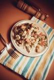 Włoski jedzenie: ceasar sałatka obraz stock