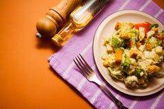 Włoski jedzenie: ceasar sałatka zdjęcia stock