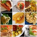 Włoski jedzenie - kolaż Zdjęcia Royalty Free