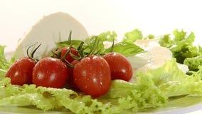 Włoski jedzenie, mozzarella zdjęcie wideo