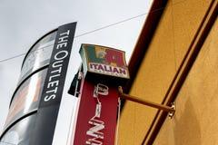 Włoski Kuchenny restauracja znak fotografia stock