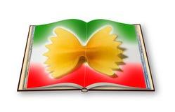 Włoski makaronów przepisów pojęcia wizerunek - 3D odpłacają się rozpieczętowany pho Obraz Royalty Free