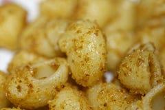 włoski makaron dzwoniący fajczany rigate aglio olio Fotografia Royalty Free