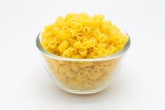 Włoski Makaronowy makaron w szklanym pucharze zdjęcie stock
