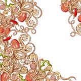 Włoski makaronu jedzenia tło Obraz Stock