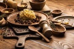 Włoski makaronu tło zdjęcie stock
