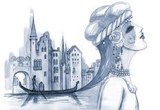 włoski motyw ilustracji