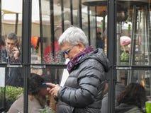Włoski polityk Nichi Vendola w Rzym zdjęcie stock