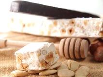 włoski słodki torrone Zdjęcie Royalty Free