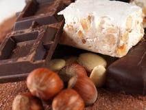 włoski słodki torrone Zdjęcia Stock