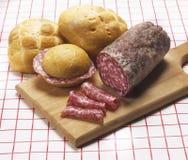 włoski salami zdjęcia stock