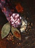 włoski salami fotografia royalty free