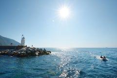 Włoski seascape zdjęcie stock