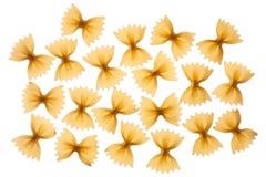 Włoski surowy makaronu farfalle, łęku krawat, motyl Obrazy Royalty Free