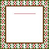 Włoski tło z czerwienią, zieleń, biała w kratkę granica ilustracji